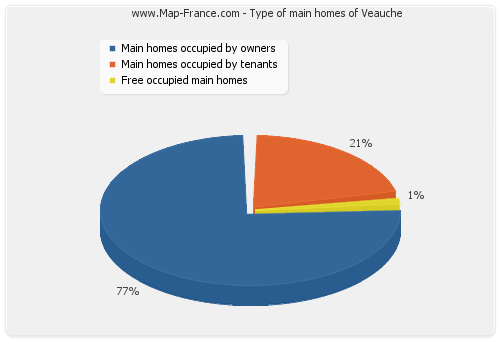 Type of main homes of Veauche