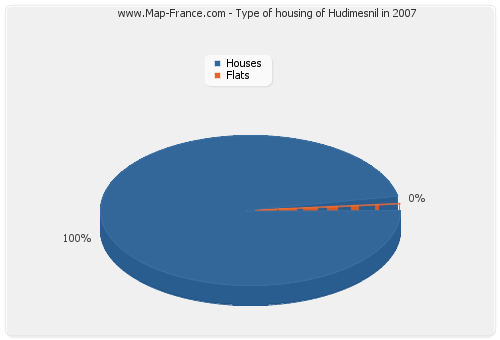 Type of housing of Hudimesnil in 2007