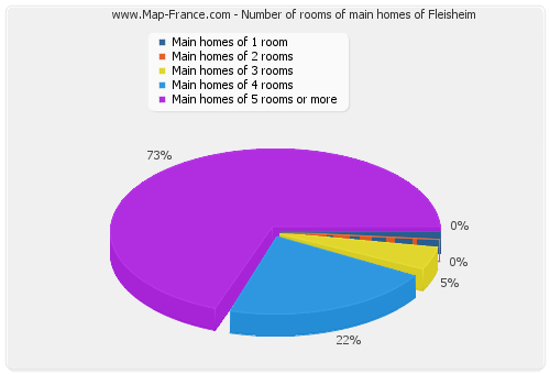 Number of rooms of main homes of Fleisheim