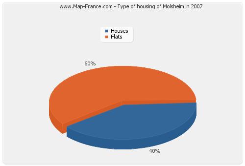 Type of housing of Molsheim in 2007