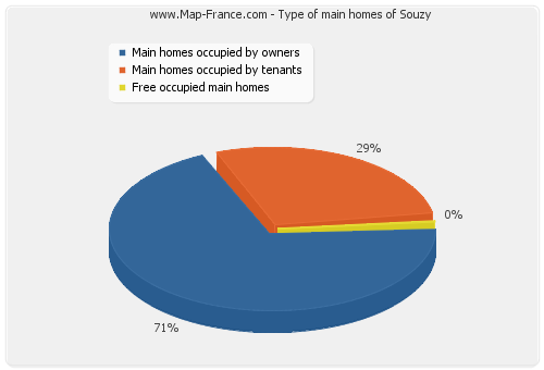 Type of main homes of Souzy