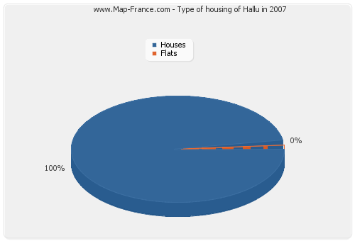 Type of housing of Hallu in 2007