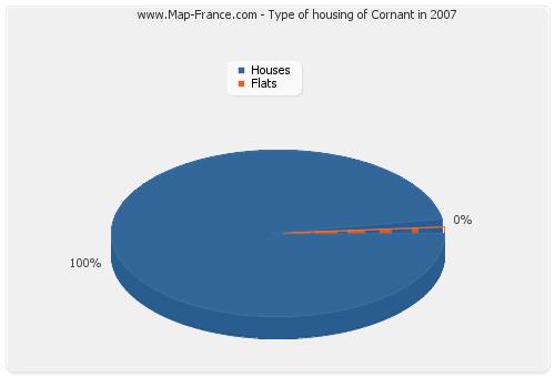 Type of housing of Cornant in 2007