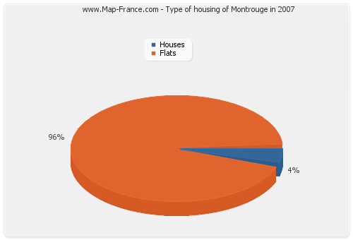 Type of housing of Montrouge in 2007