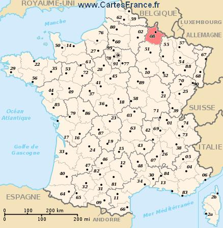 map department Ardennes