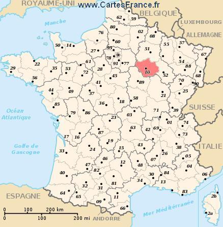 map department Aube