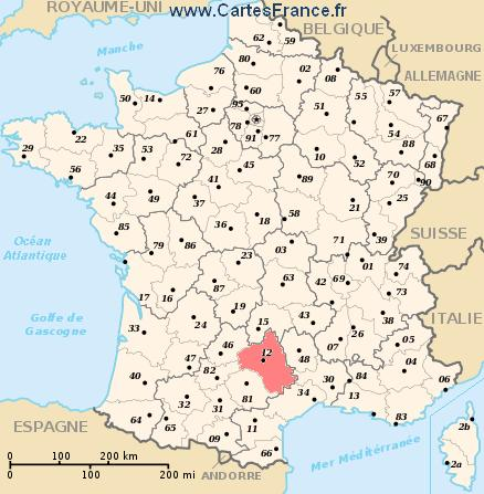 map department Aveyron