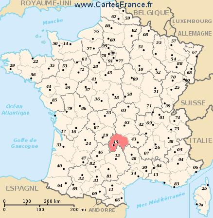 map department Cantal