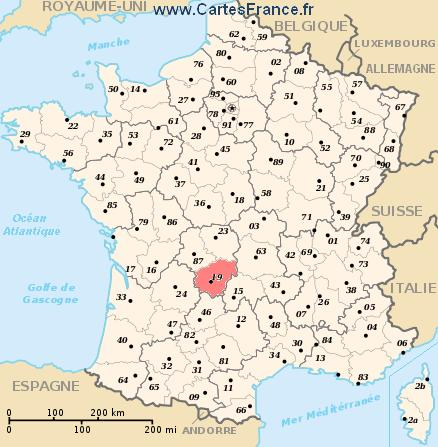map department Corrèze