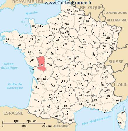 map department Deux-Sèvres