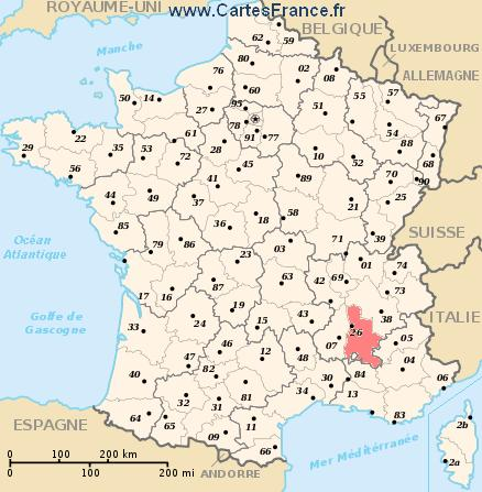 map department Drôme