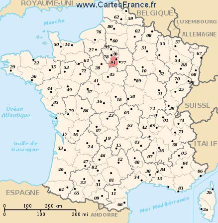 map department Essonne