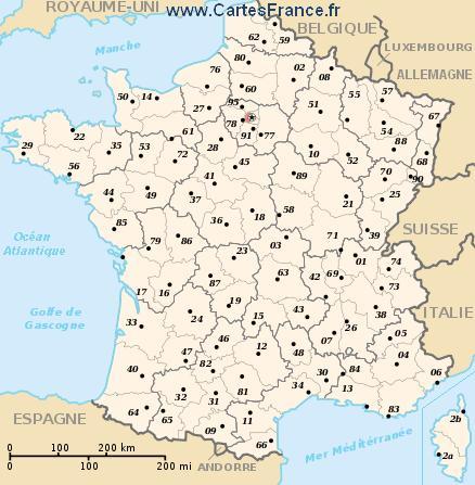 map department Hauts-de-Seine