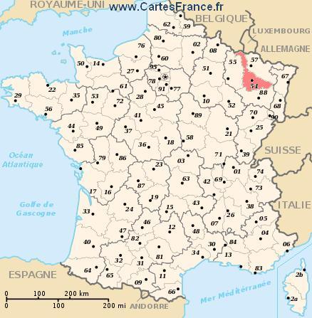 map department Meurthe-et-Moselle