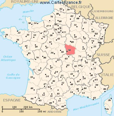 map department Nièvre