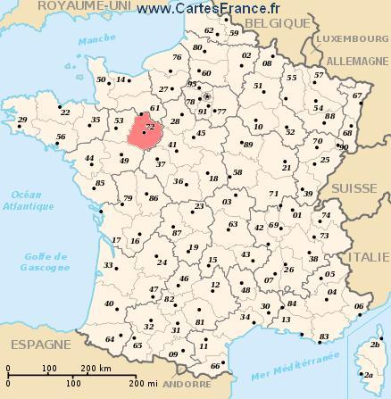 map department Sarthe