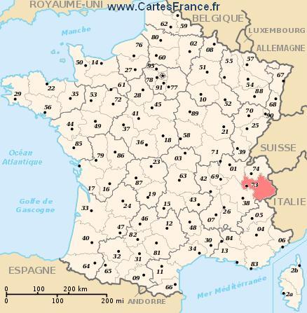 map department Savoie