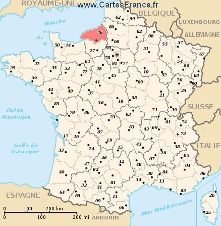 carte de seine maritime SEINE MARITIME : map, cities and data of the departement of Seine