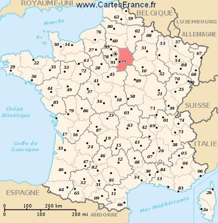 map department Seine-et-Marne