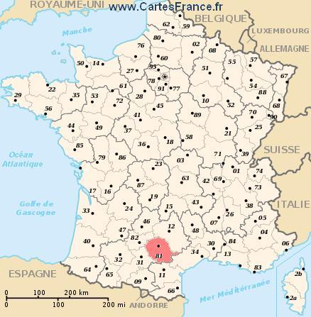 map department Tarn
