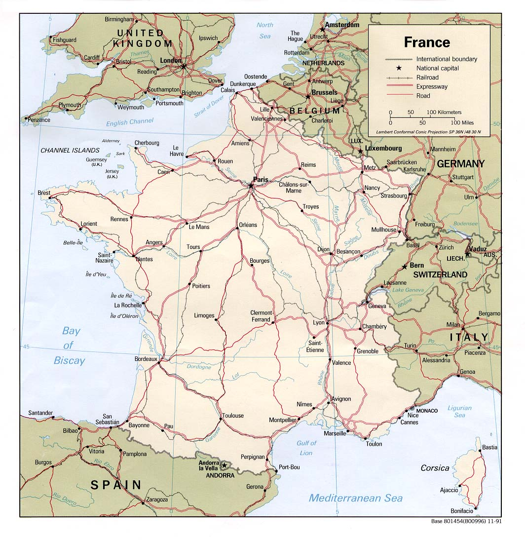 carte de france route Driving directions   Map of roads and highways of France