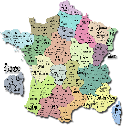 France Map With Regions.Map Of France Departments Regions Cities France Map