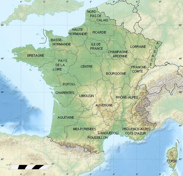 France Map With Regions.Map Of France Regions France Map With Regions