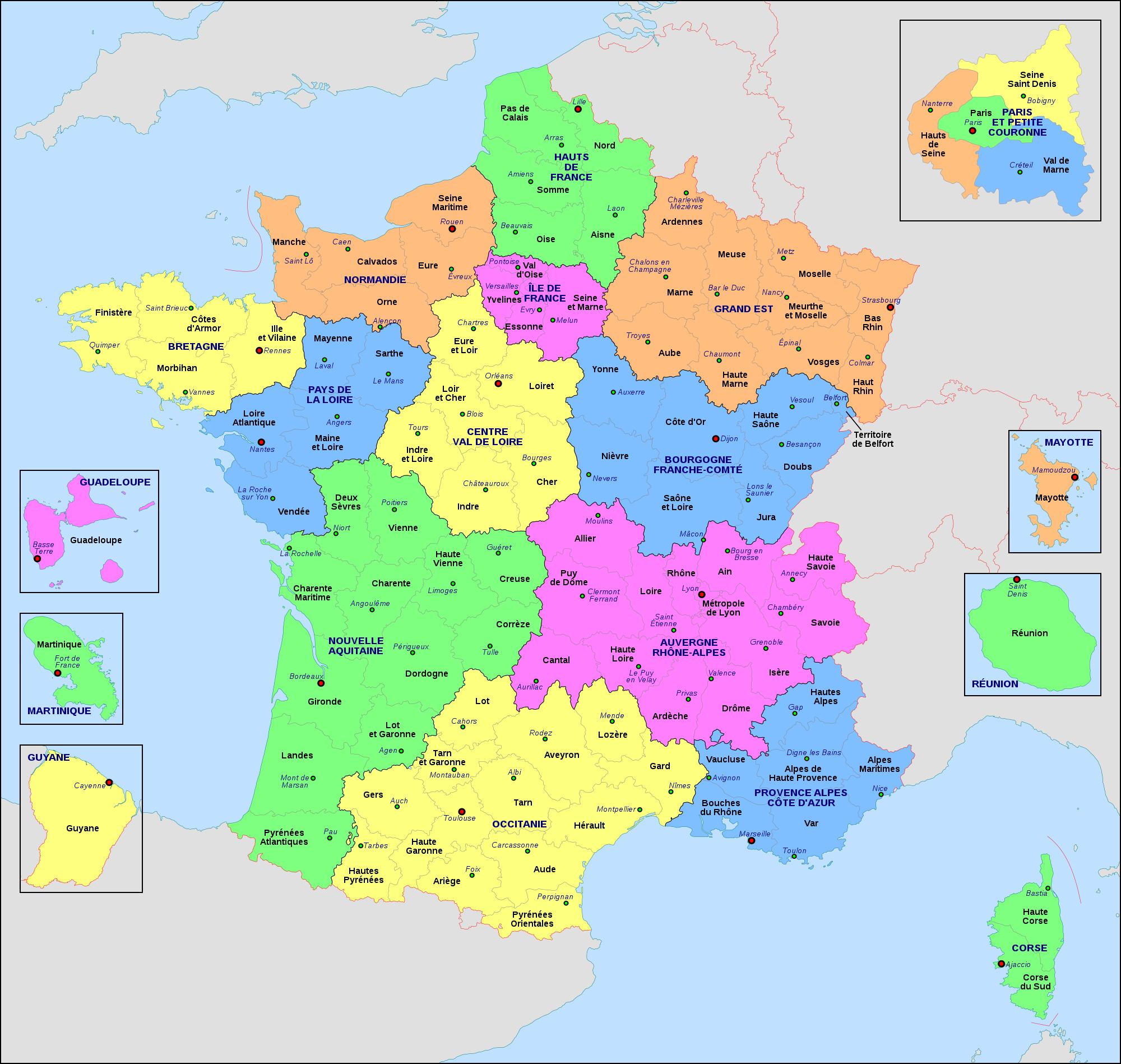 map france region