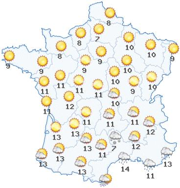 Weather forecast France