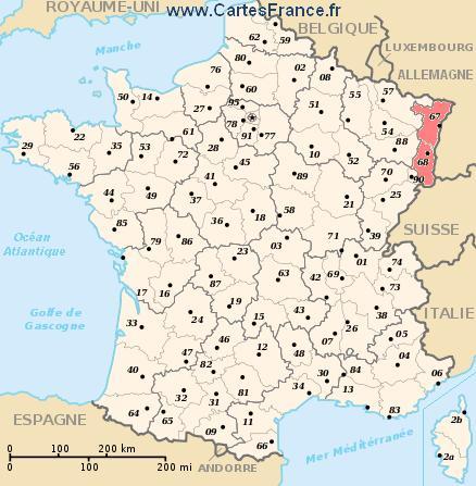 map region Alsace