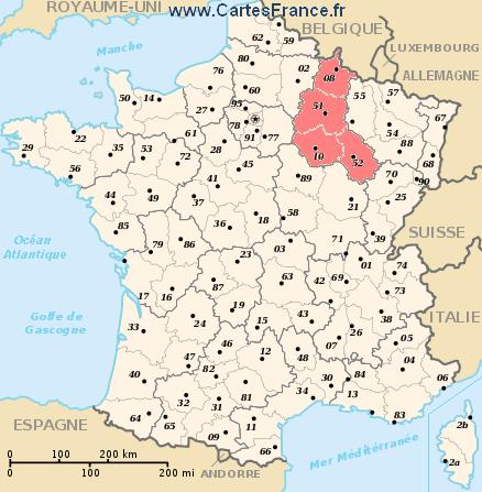 Champagne Ardenne Map Cities And Data Of The Region Champagne Ardenne France