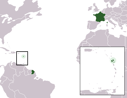 map region Guadeloupe