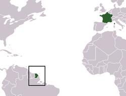 map region Guyane