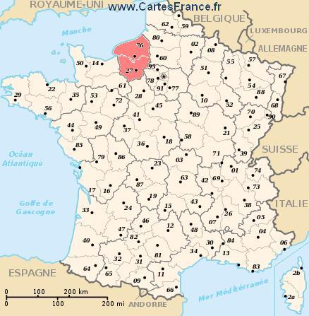 map region Haute-Normandie