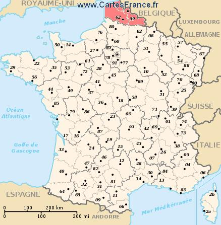 Map Of France Showing Lille.Nord Pas De Calais Map Cities And Data Of The Region Nord Pas De