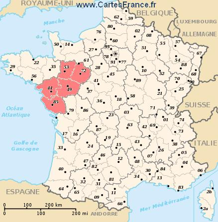 Image result for map loire