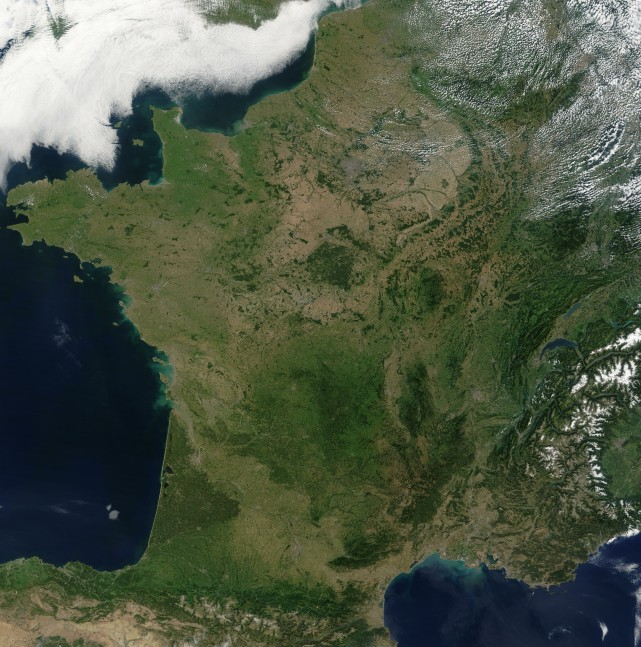 satellite france map