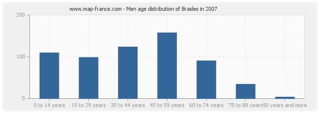 Men age distribution of Brasles in 2007