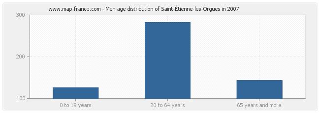 Men age distribution of Saint-Étienne-les-Orgues in 2007