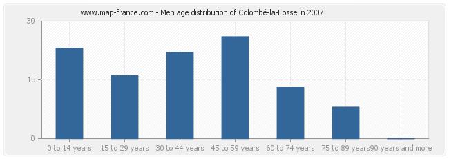 Men age distribution of Colombé-la-Fosse in 2007