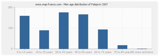 Men age distribution of Palaja in 2007