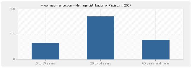 Men age distribution of Pépieux in 2007