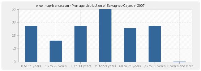 Men age distribution of Salvagnac-Cajarc in 2007