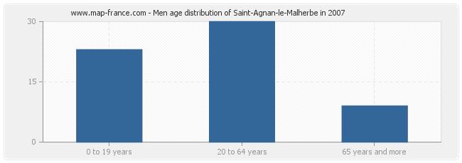 Men age distribution of Saint-Agnan-le-Malherbe in 2007