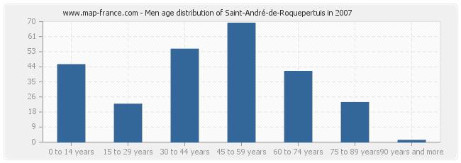 Men age distribution of Saint-André-de-Roquepertuis in 2007