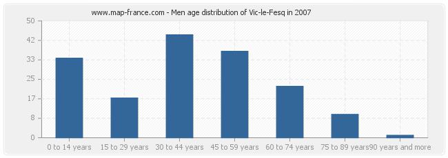 Men age distribution of Vic-le-Fesq in 2007