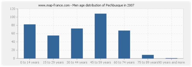 Men age distribution of Pechbusque in 2007