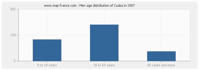 Men age distribution of Cudos in 2007
