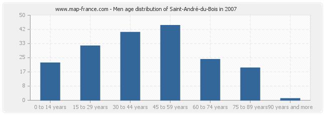 Men age distribution of Saint-André-du-Bois in 2007