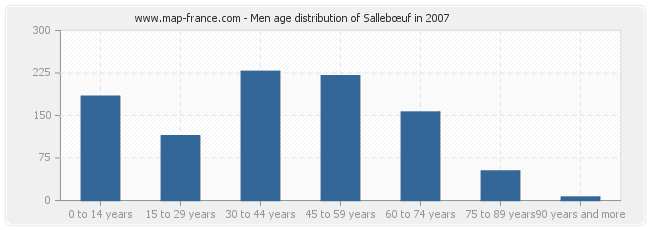 Men age distribution of Sallebœuf in 2007